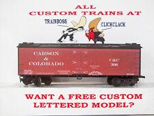 HO CUSTOM LETTERED CARSON & COLORADO RR FREIGHT CAR REEFER. LOT A