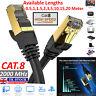RJ45 CAT8 Network Ethernet Cable 40Gbps SSPT Gigabit LAN Patch Cord 0.5m-20m Lot