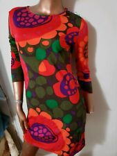 Sportmax Gorgeous Vibrant Cotton Blend Dress M fits XS S Italy CHARITY