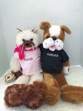 "Chantilly Lane Singing Bears PBC Sings ""Friendship"" Dog & Cat Friends Furever18"""