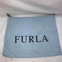 "Furla Satin Drawstring Dust Cover Storage Bag Purse Protection Blue 18"" X 14"""