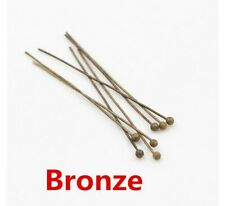 200pcs Metal Ball Head Pins For DIYJewelry Making Head pins Findings Dia 0.5mm