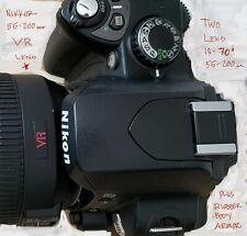 Nikon D D40x 10.2MP Digital SLR Camera - Black Two lens 18-70mm and 55-200 mm VR