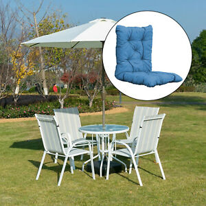 Lounge Chair Cushion Tufted Soft Outdoor Rocking Seat Deck Chaise Pad w/Ties