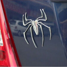 3D Metal Spider Shape Chrome Car Body Emblem Decal Badge Stickers Accessories