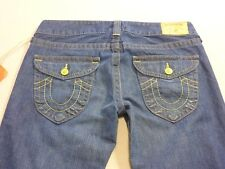 037 WOMENS NWT TRUE RELIGION LO WAIST FLARES BLUE FADE JEANS 31 $330 RRP.