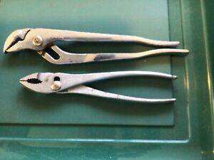 """Lot of 2 Proto Tools: #243 Channel Lock 10"""" & #3158 8"""" Slip Joint Pliers USA"""