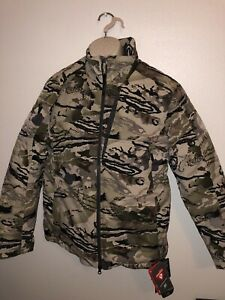 *NEW* $220 UNDER ARMOUR RIDGE TIMBER HUNTING JACKET SZ SMALL 1316734-999 BARREN