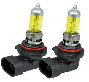 x2 9006 HB4 55W Xenon Halogen Light Bulbs Super Yellow Low Beam Fog Light J246