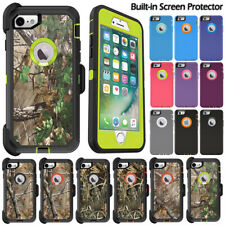 For iPhone 6 6s 7 8 Plus Defender Case Heavy Duty Cover + Screen Protector +Clip
