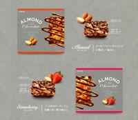 Lotte, Almond Chocolat, Chocolate / Strawberry, 8pc in 1 box, Japan, S8