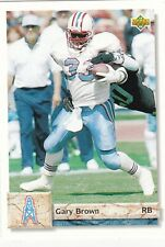 1992 Upper Deck NFL Houston Oilers Gary Brown Trading Card