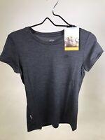 ICEBREAKER 100% Merino Wool Women's Tech 200 T-shirt - Dark Grey -Small - NEW!