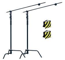 PhotR 2x HeavyDuty Photo Studio 3.25m Century C-Stand Light Boom Arm Sandbag Kit