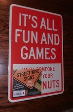 ROAST CHESTNUT Two Sided Street Wise Christmas Party Sign Holiday Style 12x8