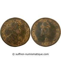 MARIE-THERESE, L'horloge – JETON cuivre 1677 - F.13151
