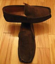 EDDIE BAUER 1057 MENS BROWN SUEDE LEATHER MOCCASIN SLIPPERS LOAFERS SIZE 10