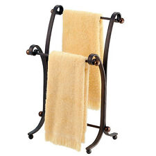 Bath Hand Towel Stand Rack Bronze Bathroom Standing Holder Storage Organizer