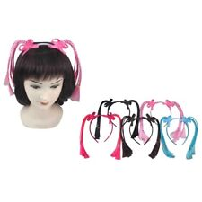 12pcs Headband Pigtail Braided Wig Faux Hair band Pin Clips Costume Party Lots