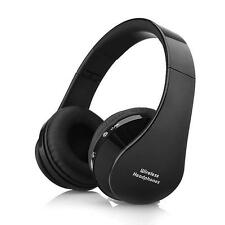 Wireless Bluetooth Stereo Foldable Headphones Earphone Headset with Mic Black