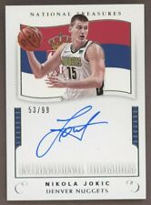 2017-18 Panini International Treasures Nikola Jokic Nuggets RC Rookie AUTO /99