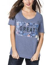 071 SHEEGO Damen Shirt Langarmshirt maritimer Look GR 44 46 48 50 NEU