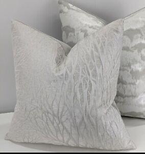 """Linford Grey Whisper Cushion Cover Handmade Velvet Reverse 16x16"""""""