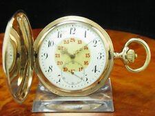IWC Schaffhausen 14kt 585 Gold Savonette Taschenuhr von ca. 1907 / Kaliber 53