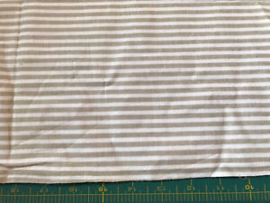Tan and White Stripe Estate Sale Fabric Priced To Sell Fast #E263