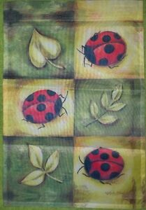 "Ladybugs Garden Flag by NCE #27848,  12.5"" x 18"" Spring Summer Fun!"