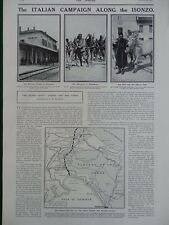 1915 THE ITALIAN CAMPAIGN ON THE ISONZO CORMONS RAILWAY MONFALCONE CARSO WW1 WWI