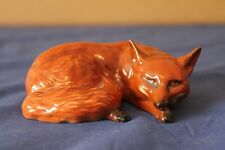 More details for beswick gloss curled up brown fox figurine 1017 - very good condition