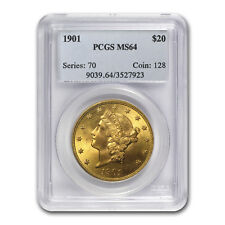 1901 $20 Liberty Gold Double Eagle MS-64 PCGS