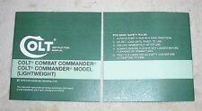 Colt Combat Commander Commander Lightweight 1978 Manual