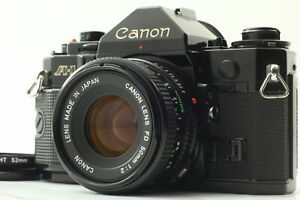 [Exc+5 ] Canon A-1 Black 35mm SLR w/ New FD NFD 50mm f2 lens From JPAN JAPAN