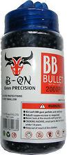TUB OF 2000 BLACK PLASTIC BB GUN PELLETS / BULLETS - 6MM - FITS MOST BB GUNS