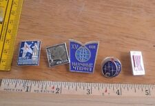 Russian Soviet Space pin lot of 5 from large collection Astronauts rockets 1F