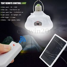 24LED Solar Power Yard Outdoor Tent Light Emergency Remote Control Camping Lamp