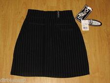 NWT Boss Juniors Size 5 Skirt Pin Stripped Length 17 Stretch Black Never Worn