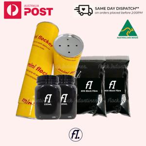 Premium Flocking Powder Suede Velvet Alcantara Style Spray Dashboard Flock Kit