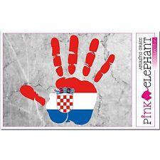 Aufkleber A4 - Kroatien - Hand - Fahne bumper sticker  flag Flagge mano croatia
