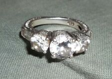 Russian diamond SIMULATED diamond engagement ring Sz 5