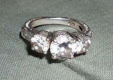 Russian diamond SIMULATED diamond engagement ring Sz 5