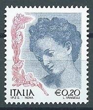 2002 ITALIA DONNA DELL'ARTE 20 CENT MNH **
