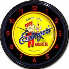 "Esslinger Brewing Co Philadelphia PA Beer Tray Wall Clock Waiter Ale Lager 10"""