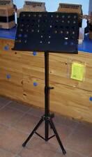 Pupitre porte partitions chef d'orchestre métal noir