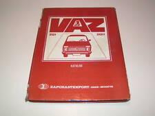 Spare Parts Catalog Lada Niva Vaz 2121 - Stand 1982
