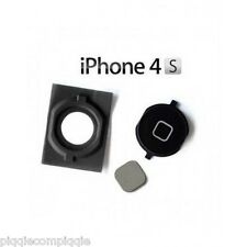 ORIGINAL iPhone 4S BLACK Home Button w/ Metal Contact and Gasket Replacement USA
