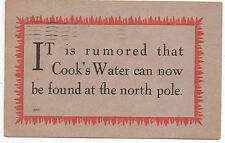 1910 Advertising Postcard for Cook's Water