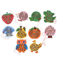 Children Animal Magnetic Maze Toy Kids Wooden Puzzle Game Intellectual Jigsaw ZB